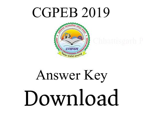 CGPEB 2018 – CG SET Answer Key Released