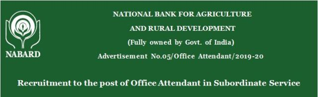 NABARD Recruitment 2019 – Apply Online for 73 Office Attendant Posts