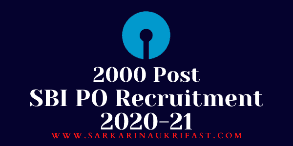 State Bank of India Probationary Officer PO Online Form 2021 1