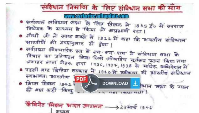 Indian Polity Best Handwriting Notes By Ankur Yadav Download PDF