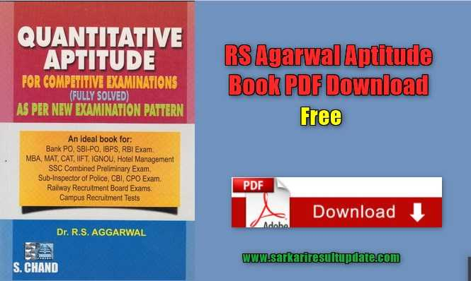 rs agarwal aptitude book pdf free download