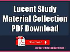 Lucent Study Material Collection PDF Download