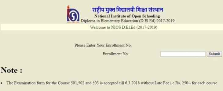 Dled Exam Fees April 2018 Online Submission
