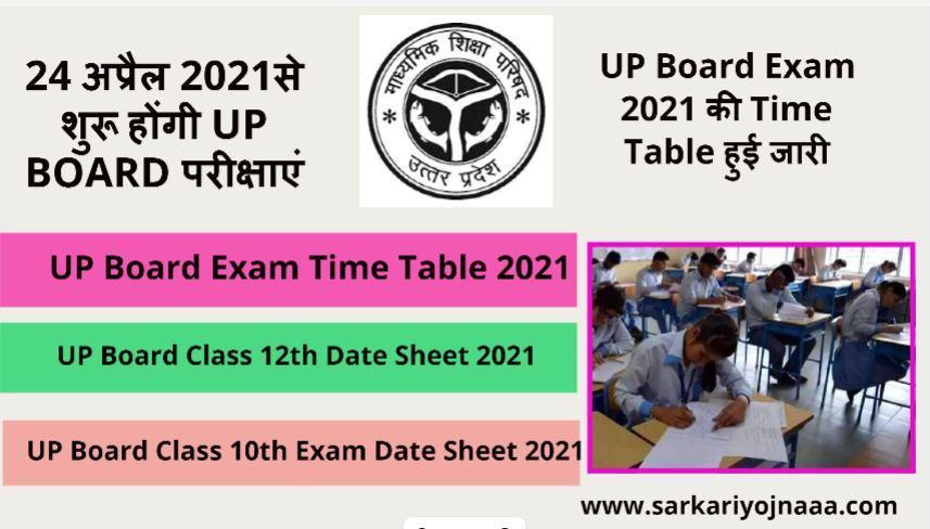 up board exam date sheet 2021