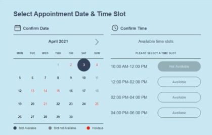 HSRP Plate Appointment Date