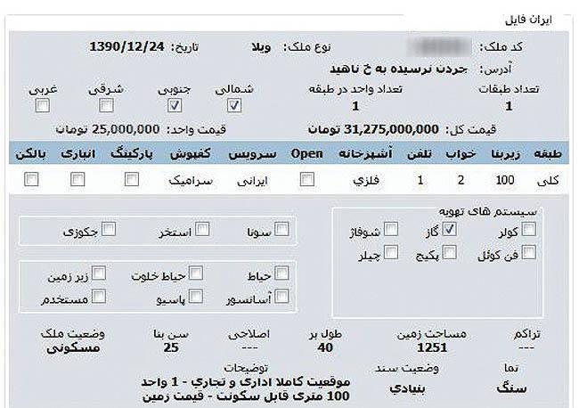 قیمت خانه عفاف