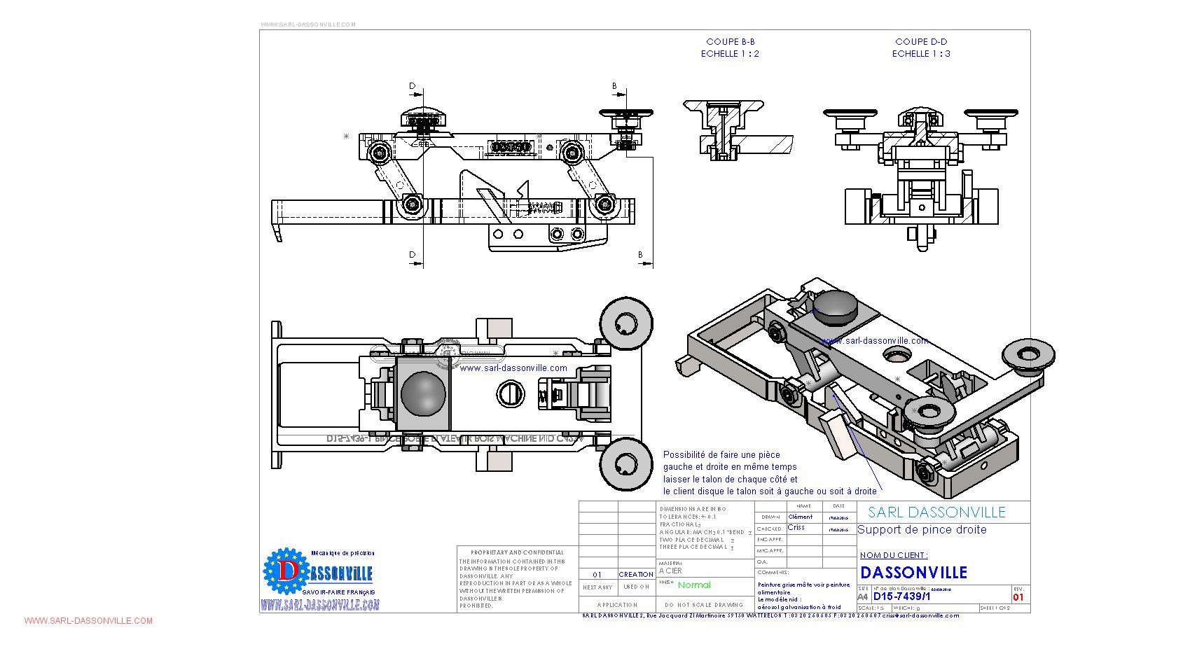 Bureau Etudes Mecanique Sarl Dassonville