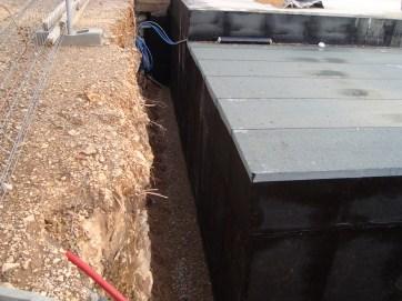 Travaux d'étanchéité sur murs enterrés