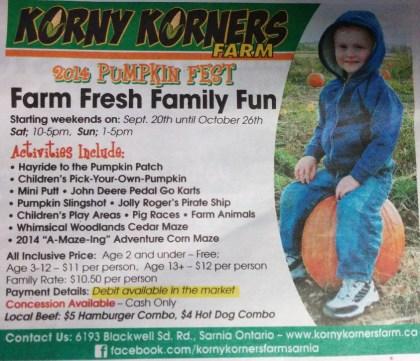 Korny Korners Pumpkinfest
