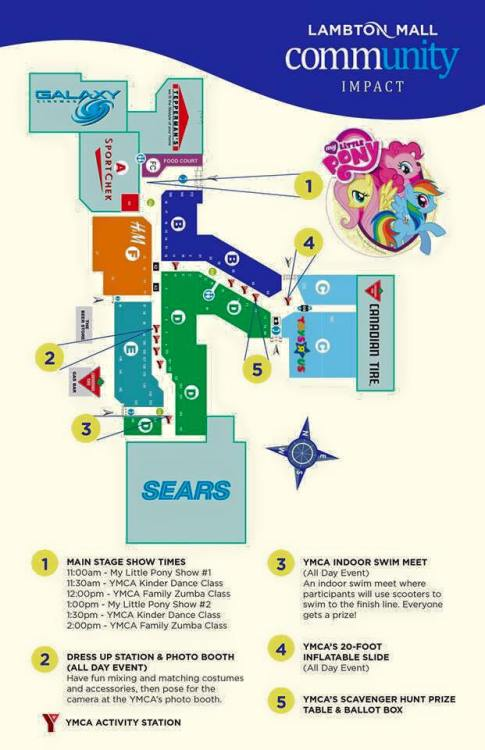Family Day @ Lambton Mall 2015: Map/Schedule