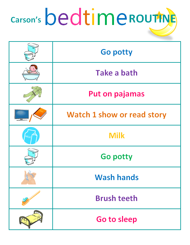 Mesmerizing image intended for bedtime routine chart printable