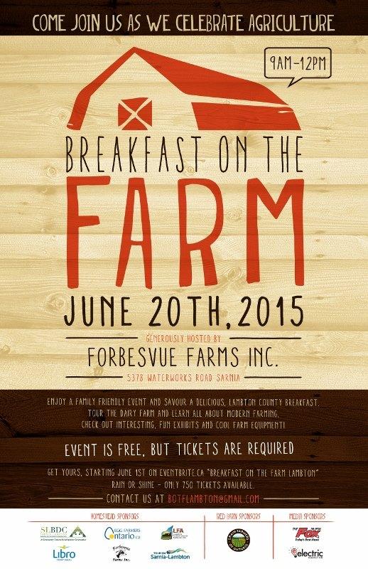 Breakfast on the Farm Lambton 2015