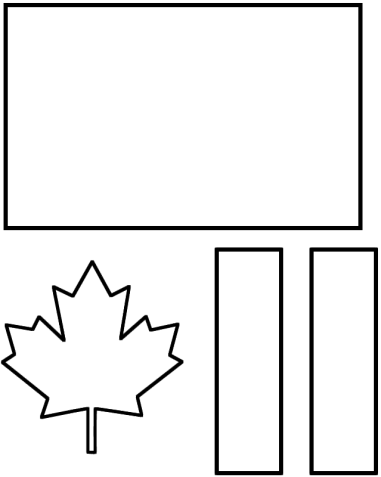 Canada Day flag template
