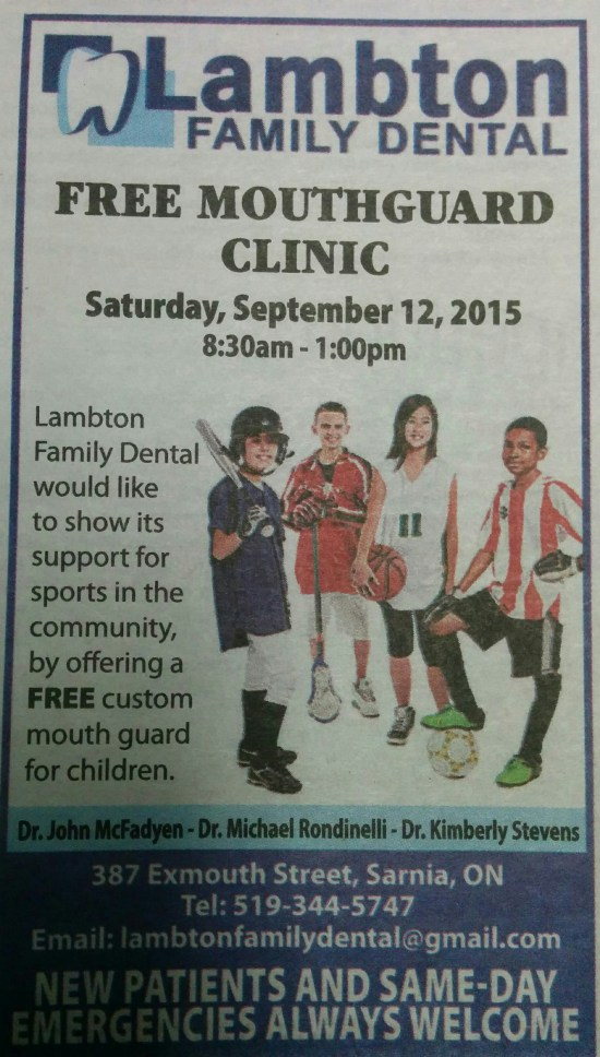 Lambton Family Dental Free Mouthguard Clinic