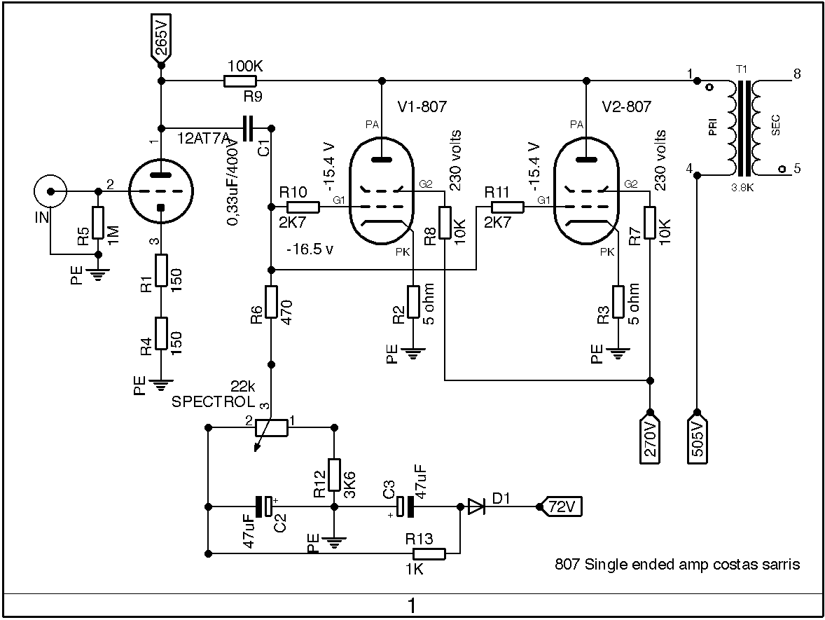 Kt88 Amplifier Schematic