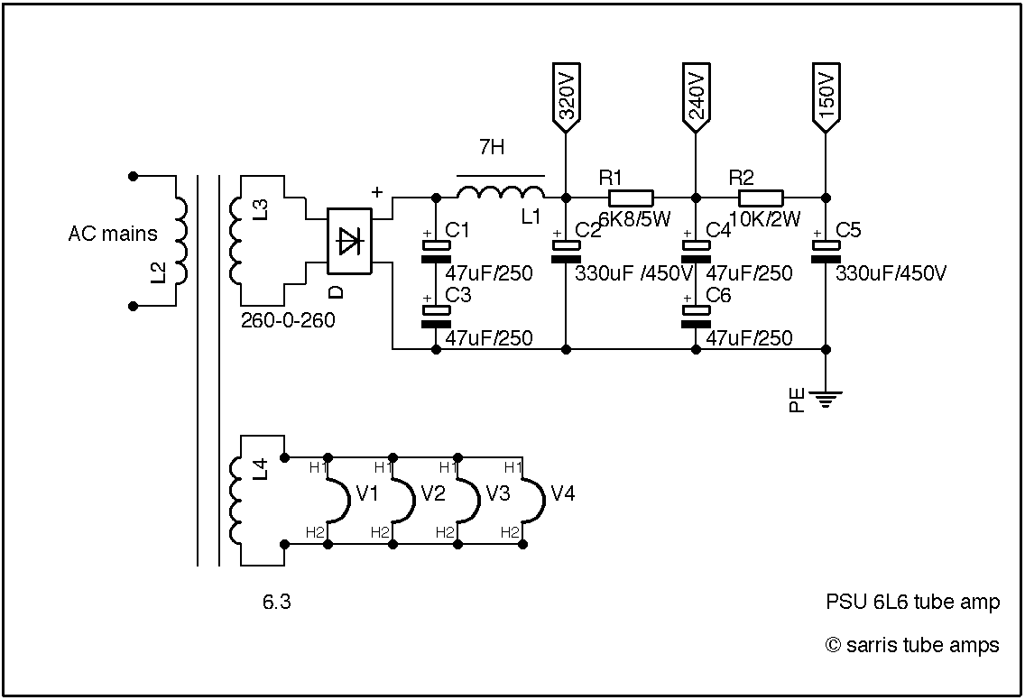 Se Tube Amplifier 6l6 Schematic