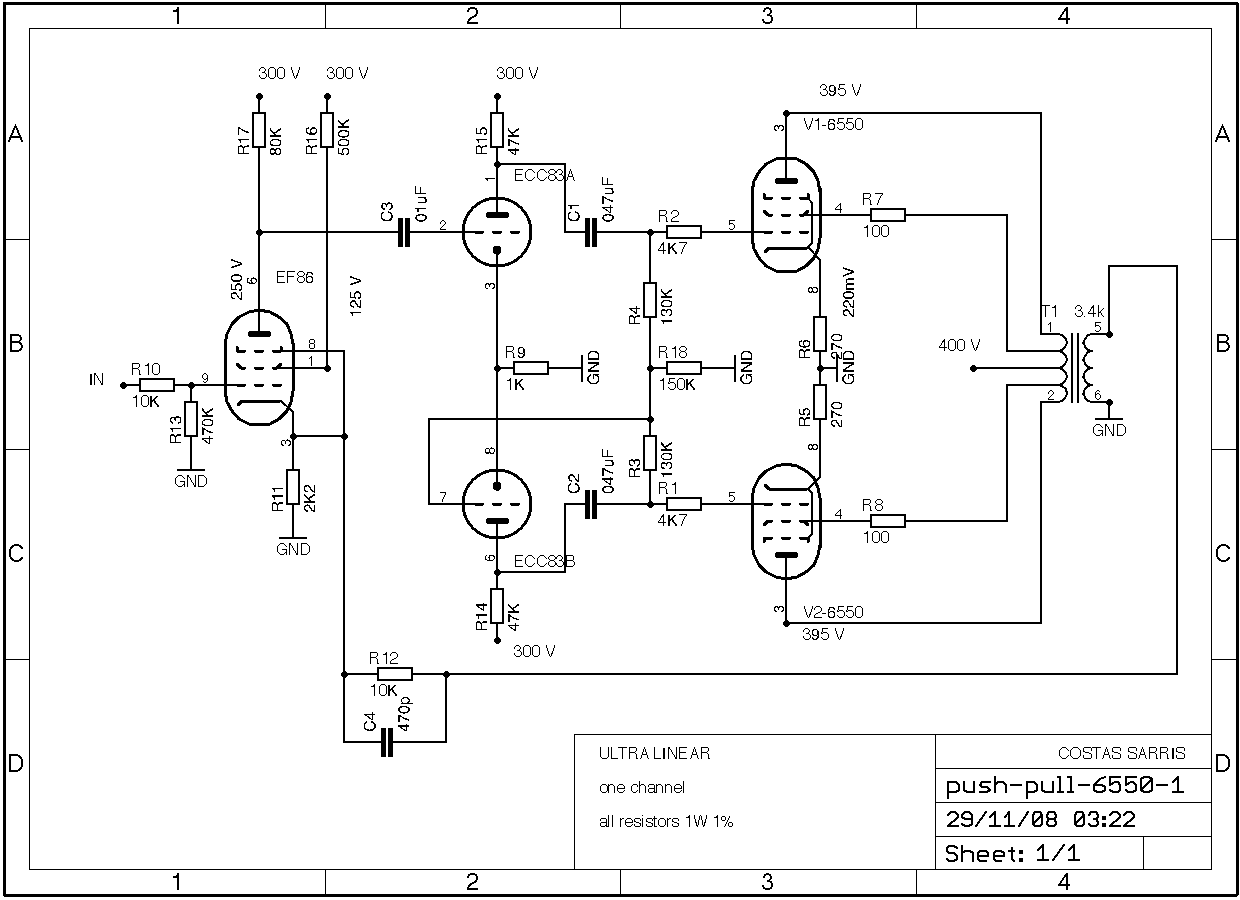 6550 Push Pull Schematic