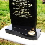modern granite gravestone