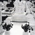 headstone marble Jesus Mary and Joseph headstone