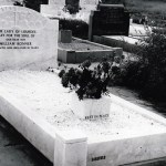 white marble kerb set with matching head stone