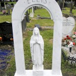 fully restored marble headstone