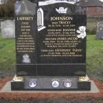 family memorial granite gravestone