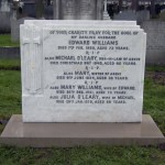 After restoration of headstone