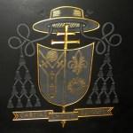 crest on archbishops grave