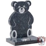 flat teddy bear shaped headstone