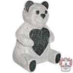 3d teddy gravestone grey
