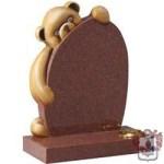 baby teddy bear headstone