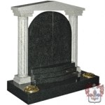 rounded marble headstone with arch