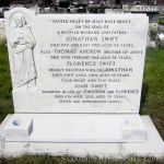 Headstone after repair