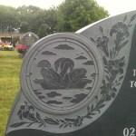 grey engraving on memorial