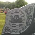grey engraving on memorial