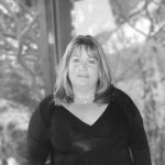 black and white photo of grand daughter of founder of business