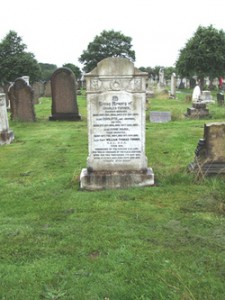 Memorial to Capt William Turner, Rake Lane Cemetery, Wallasey