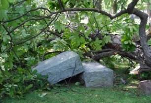 Storm Damaged Gravestone in Ohio (Anne Mitchell Flickr)