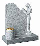 Elegant lady granite headstone