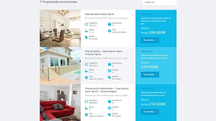 Diseño web de promoción inmobiliaria Noveno horizonte en Aigües con consultoría SEO