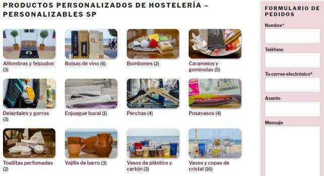 Diseño web en Alcoi y contenidos web para productos personalizables SP