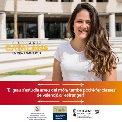 Campaña publicitaria para universidad - Filología Catalana UA y UV Maria Marin
