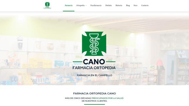Diseño web en El Campello con contenidos y redes sociales para farmacia