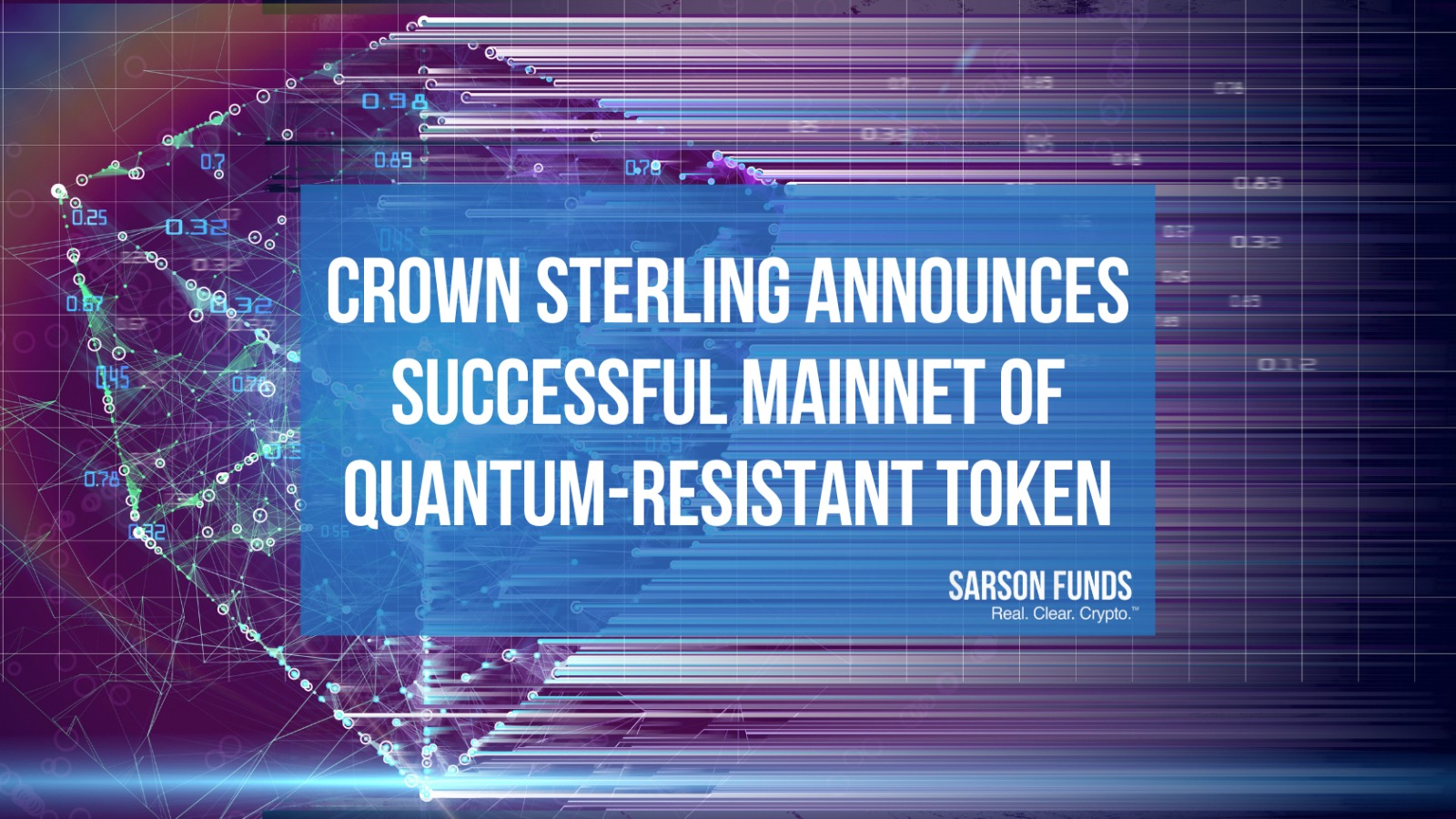 Crown Sovereign MainNet Launch