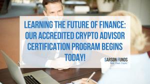 Crypto advisor education