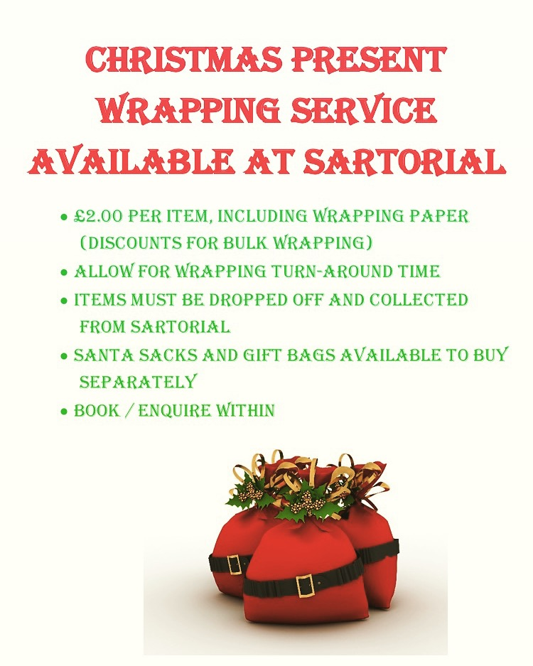 Christmas present wrapping services