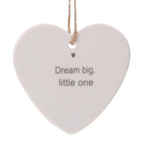 dream big little one - porcelain heart