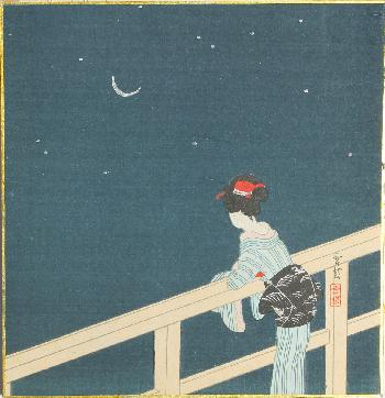 Image result for japanese art moon and stars
