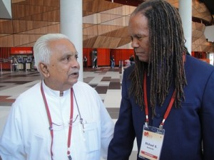 Dr. Ariyaratne with Michael Beckwith