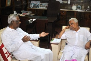 Dr. AT Ariyaratne and Mr. Mariyappan